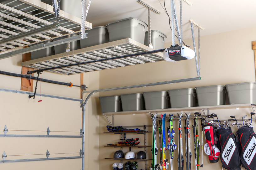 Overhead GARAGE Storage Features